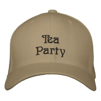 Tea Party Embroidered Hat