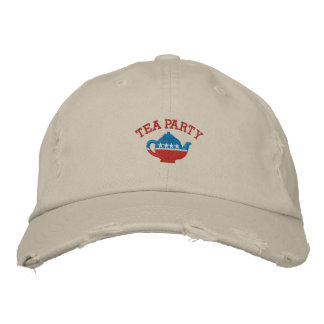 Tea Party Embroidered Vintage Hat Baseball Cap