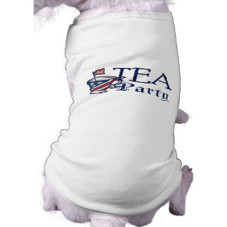 Tea Party Flag Patriotic Conservative Puppy Sleeveless Dog Shirt