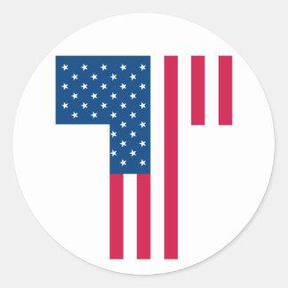 Tea Party Flag Round Sticker