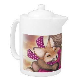 Tea Party & Hugs tea pot - medium