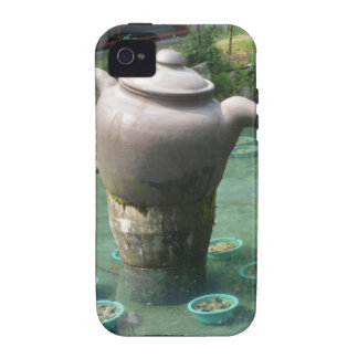 Tea Party Invitation:  Chinese Tea Park Case-Mate iPhone 4 Cases
