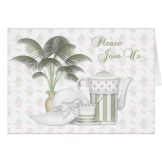 Tea Party Invitation Greeting Card
