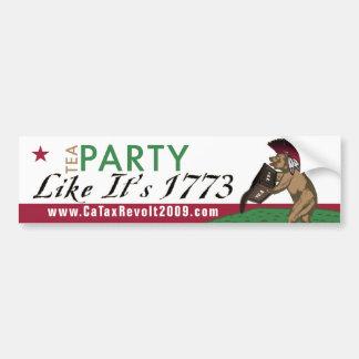 Tea Party Like It's 1773 Bumper Sticker