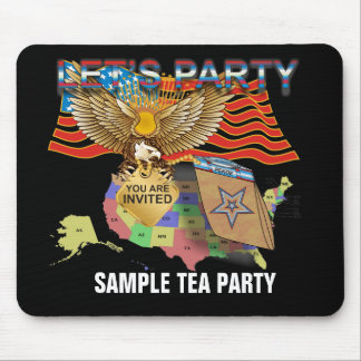 Tea Party Mouse Pad