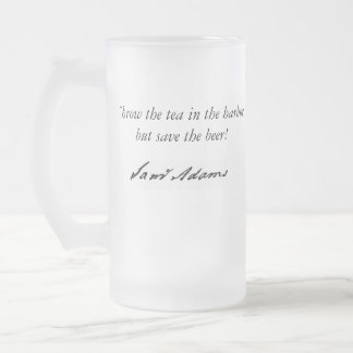 Tea Party Frosted Glass Mug
