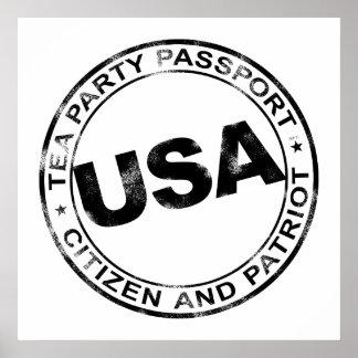 Tea Party Passport Print