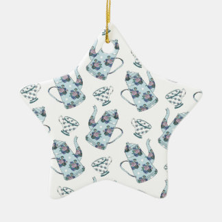 Tea Party Pattern. Ceramic Star Decoration