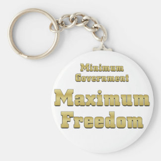 Tea Party Plan: Minimum Government Maximum Freedom Basic Round Button Key Ring
