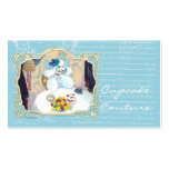 Tea Party Poodle Cupcake Business Cards