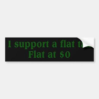 Tea Party Preferred Tax Rate: Flat at $0 Bumper Sticker