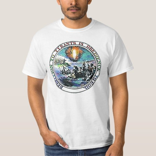 Tea Party Rebellion to Tyrants t-shirt