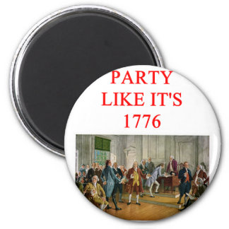 tea party republican 6 cm round magnet