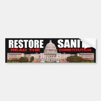 Tea Party - Restore Sanity Bumper Sticker