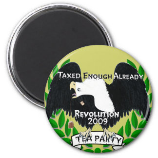 TEA Party Supplies 6 Cm Round Magnet