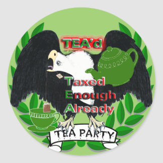 TEA Party Supplies Stickers