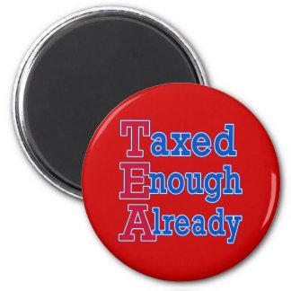 TEA PARTY Taxed Enough Already Tshirts 6 Cm Round Magnet