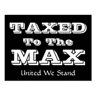 Tea Party - TAXED to the MAX ! by SRF Postcard