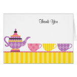 Tea Party Thank You Note Cards Card