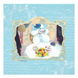 tea party wht poo16 in pillow panel fini personalised invitations