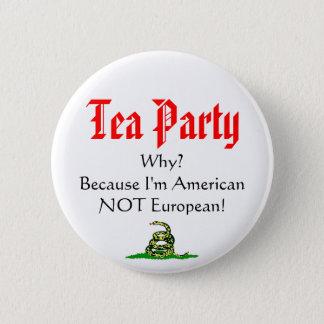 Tea Party, WHY? 6 Cm Round Badge