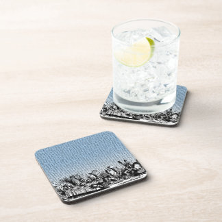Tea Party with Text Coaster