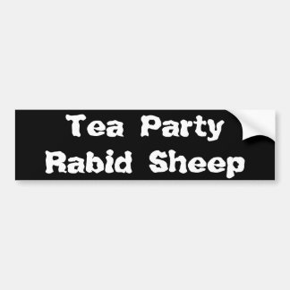 Tea PartyRabid Sheep Bumper Sticker