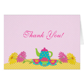 Tea PartyThank You Greeting Card