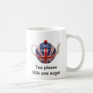 Tea Please Basic White Mug