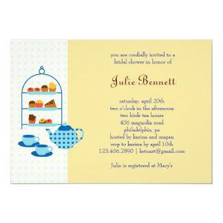 Tea Pot and Pastries Bridal Shower Invitation