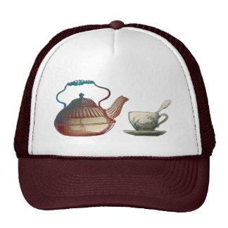 Tea Pot and Tea Cup Art Mesh Hats
