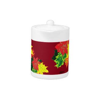 Tea Pot : Autumn Leaves