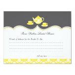 Tea Pot Bridal Shower Advise Card Custom Invite