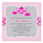 Tea Pot Bridal Shower (Pink/Grey) Invitation