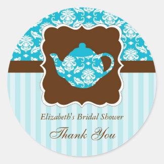 Tea Pot Favor Seal Sticker