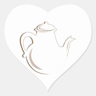 Tea Pot Heart Sticker