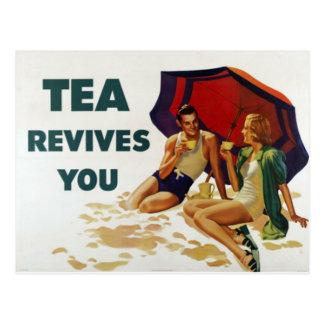 Tea Revives You Postcard