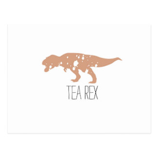Tea Rex Brown Postcard