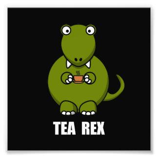 Tea Rex Dinosaur Art Photo