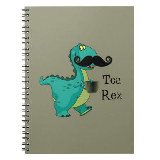 Tea- Rex Funny Dinosaur Cartoon Innuendo Spiral Notebook