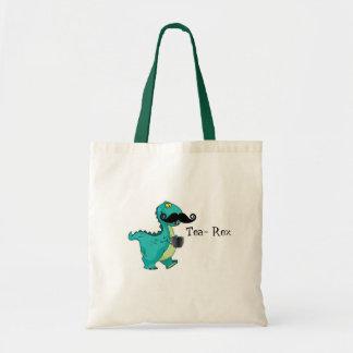 Tea- Rex Funny Dinosaur Cartoon Innuendo Tote Bag