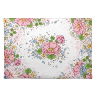 Tea Rose place mat (pink)