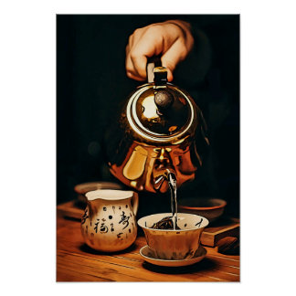 Tea Service with Copper Kettle Poster