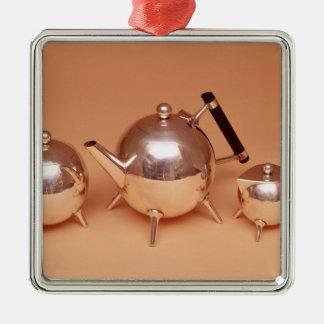 Tea service with gilt interiors christmas ornament