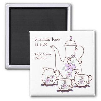 Tea Set Bridal Shower Favor Magnets