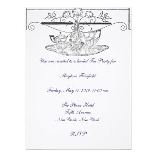 Tea Set Bridal Tea Party Invitation
