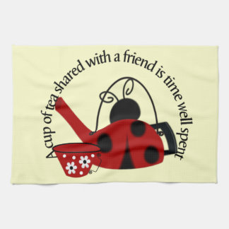 Tea shared with Friends Kitchen Towel