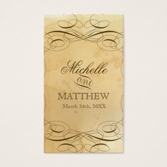 Tea Stained Vintage Wedding 1 - Favour Gift Tags