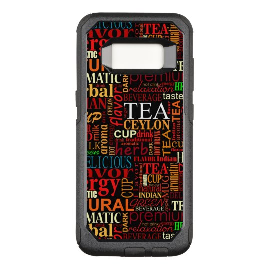 Tea tags OtterBox commuter samsung galaxy s8 case