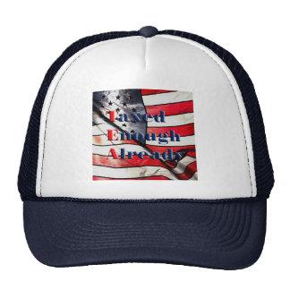 TEA - Taxed Enough Already on Flag Background Cap